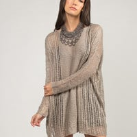 Holey Sheer Knit Sweater - S/M