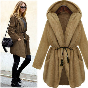 Plus Size Women's Fashion Double Sided Jacket [9272985604]