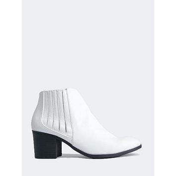 Elastic Side Ankle Bootie