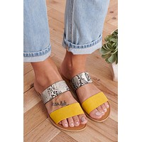 Bright Choice Slip On Sandals (Yellow)