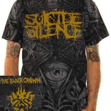 Suicide Silence T-Shirt - Black Crown All Over Print