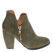 The Marlie Bootie in Olive