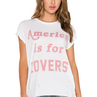 The Laundry Room America Is For Lovers Rolling Tee in White