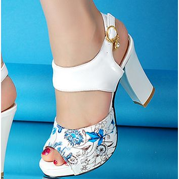 Hot style sells high - heeled fish mouth sandals shoes