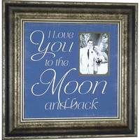 Custom Wedding Frame, I LOVE YOU To The Moon And Back, Wedding Lyrics, Song, Vows, Personalized Wedding Gift, Anniversary Gift, 16 X 16