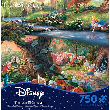 Thomas Kinkade Alice in Wonderland Jigsaw Puzzle in Ceaco's Disney Collection