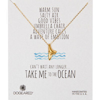Dogeared Take Me to the Ocean Shark Tooth Necklace - Gold