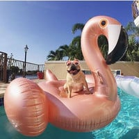 60 Inch Giant Rose Gold Inflatable Flamingo Pool Float