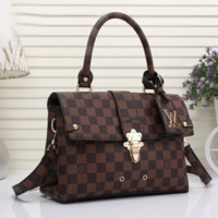 Louis Vuitton Shopping Leather Crossbody Satchel Shoulder Bag