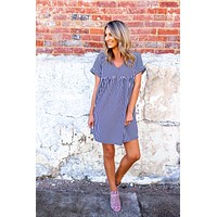All In Good Time Dress - Navy