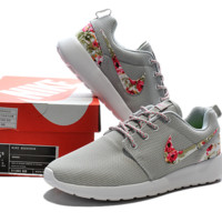 """NIKE"" Trending Fashion Casual Sports Shoes Grey Floral"