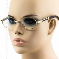 Retro Wood Vintage Style old school fashion 70 80s Gangster Metal Frame glasses