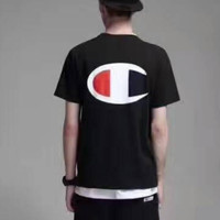 Champion  short sleeve top T-shirt tee H-YF-MLBKS