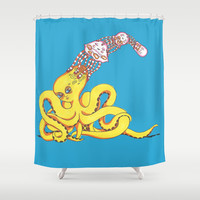 Head Games Shower Curtain by Allise Noble