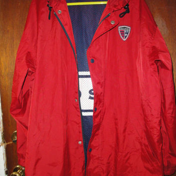 Mens Vintage Ralph Lauren Polo Sport Light Jacket Windbreaker Coat M Medium