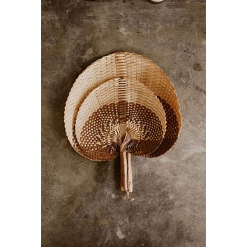 Village Thrive - Woven Paradisio Fan in Amber Ombre