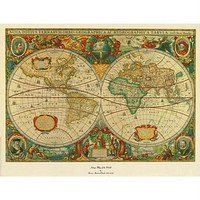 Old World Map Painting - Extra Large Artwork