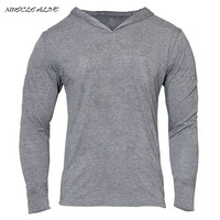 GOLDS Gyms Hoodies Bodybuilding Clothing Long sleeve Fitness Muscle Tight Men Cotton Slim Tracksuit Home Pullover moletons
