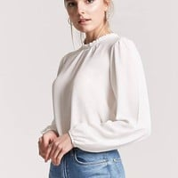 Crepe High Neck Top