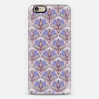 Art Deco Lotus Rising 2 - sage grey & purple pattern iPhone 6 case by Micklyn Le Feuvre   Casetify