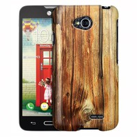 LG Ultimate 2 Case, Slim Fit Snap On Cover by Trek Mature Wood Floors Case
