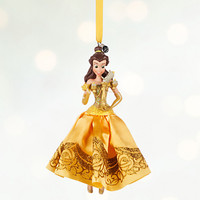 Disney Store 2016 Belle & Lumiere Sketchbook Christmas Ornament New With Tags