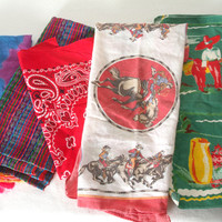 5 Cotton Bandanas Great for any Craft Project or Use as is
