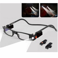 HighSlim Reading Glasses With LED Light MG Function Dioptrie Woman Magnetic Glasses Magnet 1.0 1.5 2.0 2.5 3.0 3.5 4.0