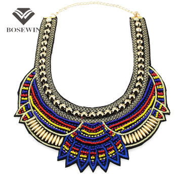 Year Hot Sell National Characteristic Fashion Women Acrylic Handwork Collar Chokers Jewelry Statement Necklaces CE3581
