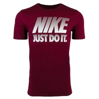 Nike Male Just Do It T-Shirt, Maroon (Size S)