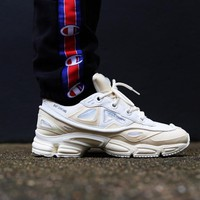 Sale Raf Simons x Adidas Consortium Ozweego 2 III Retro Sport Smart Running Shoes Bunny Cream Trainers Shoes S81161