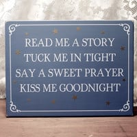 Read Me a Story Wood Wall Sign Children Decor Nursery Bedroom