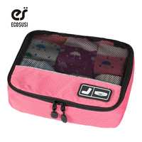 ECOSUSI Underware Organizers Travel Accessories For Sock Polyester Travel Bag Women Cosmetic Bag Organizers For Belt Breath