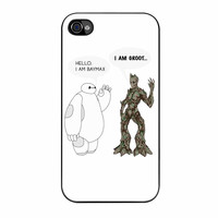 Hello I Baymax I Groot iPhone 4 Case