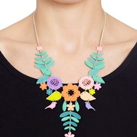 Mexican Embroidery Necklace - Pastels