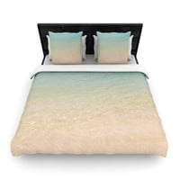 "Catherine McDonald ""Ombre Sea"" Beach Photography Woven Duvet Cover"