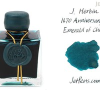 JetPens.com - J. Herbin Emerald of Chivor Ink - 1670 Anniversary - 50 ml Bottle