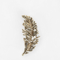 Rhinestone Feather Cuff Earring - Urban Outfitters