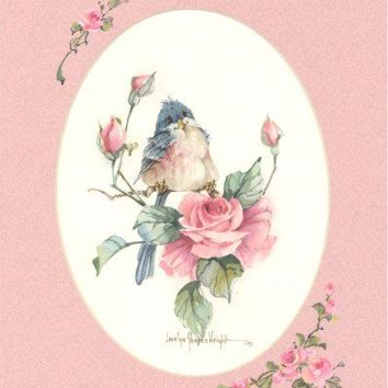 In a Rose Garden 8x10 watercolor | CShoresInc - Painting on ArtFire