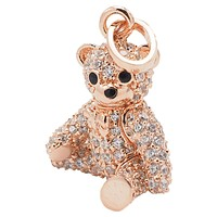 Sprinkles Mama Bear Necklace, Momma Teddy Pendant with Crystals