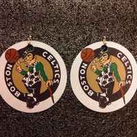 Boston Celtics Earrings FREE Shipping Worldwide NBA Basketball Wives Team logo Dangle Ladies Memorabilia Jersey Fan Women Hat Cap Clover