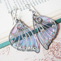 Sihaya Designs Faery Wing Earrings - Daoine Sith - Iridescent Fairy Wing Jewelry