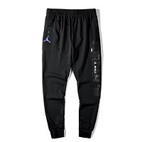 NIKE Jordan New fashion letter people print couple pants Black