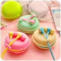1 Set Of New Fashion Macarons Design In-ear Earphones Headphones Headset For All Phones Cute Headphone For MP3 Player Pc [6679232839]
