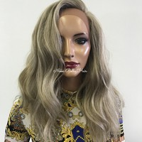 Ash Blond waves lace front wig 0418 37 ON SALE