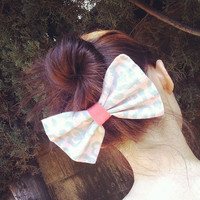 Scribble Hearts Hair Bow