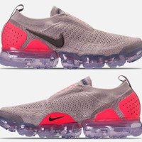 NIKE AIR VAPORMAX FLYKNIT MOC 2 MEN'S RUNNING MOON PARTICLE - SOLAR RED - INDIGO