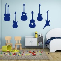 ik799 Wall Decal electric bass guitar star music song artist notes chords rock