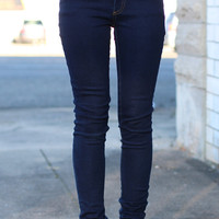 Basic Denim Jeggings {Navy Blue}