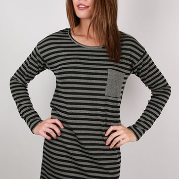 Cheers to Stripes Dress in Black
